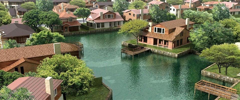 Waterpoint cuộc sống được bao quanh bởi sông nước, cỏ cây