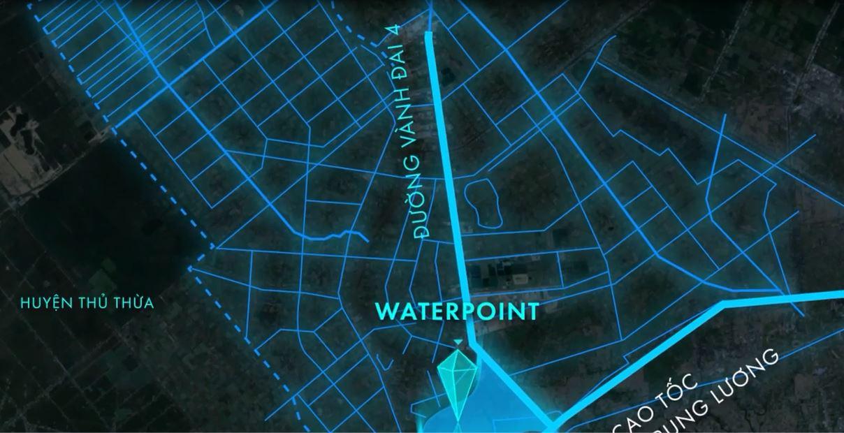 Waterpoint nằm ngay cạnh đường Vành Đai 4, cửa ngõ 5 tỉnh, kết nối 32 tỉnh phía Nam