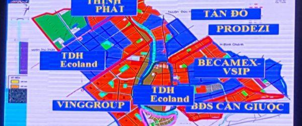 Bản đồ quy hoạch các dự án tại Long An